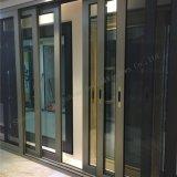 Slidingdoor en aluminium lourd à extrémité élevé avec à télécommande en verre