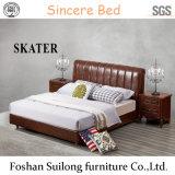 현대 미국식 가죽 침대 침실 Bedb005