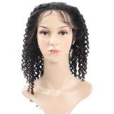 pelucas llenas del pelo humano del cordón 10abrazilian para las pelucas rectas del pelo humano del frente del cordón de las mujeres negras con la peluca llena del cordón de Glueless del pelo del bebé
