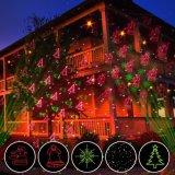 인기 상품 Red&Green 최신 패턴 휴일 훈장을%s 소형 Laser 영사기 빛