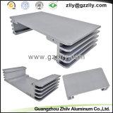 Protuberancia de aluminio para el equipo audio del bastidor del coche
