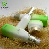 Botella de cosméticos de vidrio con bomba de bloqueo