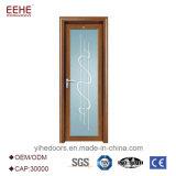 Salle à manger de l'aluminium à battants des portes de l'intérieur de vitre de porte