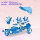 Triciclo del bebé de los niños de los cabritos del asiento del doble dos para los gemelos