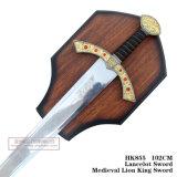 Rei medieval Espada HK855 do leão da espada de Lancelot 102cm