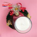Стеклянный кувшин при свечах с крышкой из дерева и душистыми роскошь