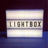 편지를 가진 LED 가벼운 상자