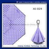 De promotie Paraplu van de Auto van de Paraplu van het Handvat van C Tweedeks Omgekeerde Wind