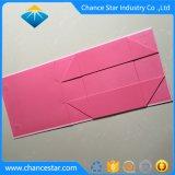 Rectángulo de regalo de papel plegable inferior de encargo de la cartulina