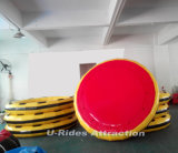 أحمر وأصفر قابل للنفخ مستديرة رمث لأنّ ماء متنزّه