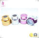 Envase cosmético de aluminio rojo del cuidado de piel con el casquillo de plata/de oro