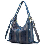 중국 공급자에게서 술을%s 가진 최신 디자인 뱀 피부 Patern 가죽 가방 여자 핸드백은 Emg5217를 도매한다