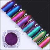 Le produit de beauté de caméléon de changement de couleur de Multi-Chrome cloue la poudre automatique de peinture