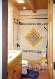 El beige 6X6 pulgadas/15x15cm cristal biselado brillante de la pared cerámica mosaico Metro baño cocina Decoración