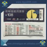 Bilhete invisível UV da impressão do papel do Watermark da Anti-Falsificação