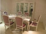 Tabella pranzante intagliata mano di colore fresco di legno solido Y06