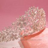 El cabello de alta calidad joyas grandes Bodas de Plata de la corona nupcial+Tiara de cristal brillante diseño romántico de Rhinestones por parte de la novia