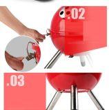 Новый стиль переносной гриль барбекю за круглым столом для использования вне помещений для кемпинга