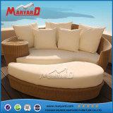 Mobiliário de Jardim de lazer de vime amarela cama de vime