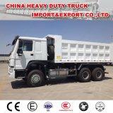 エチオピアのトラックのSinotruk HOWO 30のダンプトラックトン371の6X4