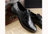 Chaussures occasionnelles d'hommes de chaussures d'hommes d'affaires de cuir véritable