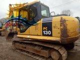 Excavador hidráulico usado de KOMATSU PC130-7 del excavador de la correa eslabonada de la maquinaria de construcción