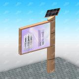 Étalage de panneau-réclame éclairé à contre-jour par drapeau en aluminium solaire de câble de structure métallique
