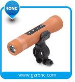 banco da potência 2200mAh com a lanterna elétrica do diodo emissor de luz do altofalante de Bluetooth