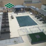 A China por grosso de alta qualidade da marca verde Universal 100% polipropileno anti-UV Mesh Tampa de segurança para piscina e SPA