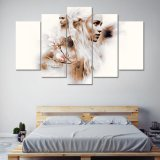 يشكّل [هد] طبق [5بكس] من أعراض [دنرس] [ترغرن] نوع خيش فنّ يدهن حديثة بيتيّة زخرفة جدار فنية صورة صورة زيتيّة