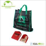 Sac à provisions tissé par pp mignon pliable réutilisable de tissu de cadeau de budget