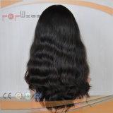 Peluca humana del pelo de la Virgen del cortocircuito completo del cordón (PPG-l-01793)