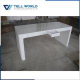 아크릴 단단한 단순히 표면 작풍 아치 모양 컴퓨터 테이블 디자인