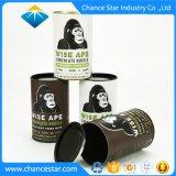 Kundenspezifisches rundes Papiergefäß mit Metallkappe für Schokolade