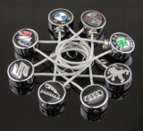 Keychain gaf Ketting van het Embleem van het Merk van de Auto officieel de Beste Zeer belangrijke (vergunning Nissan)