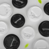 Eco-Friendly 음식 급료 흑백 PS 커피잔 뚜껑