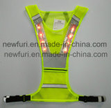 Maglia riflettente di funzionamento della maglia della maglia LED di sicurezza della maglia di nuovo stile