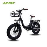 20inch pliant la bicyclette électrique de gros pneu avec la batterie de Silverfish