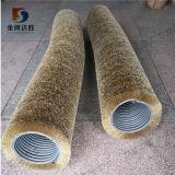 Personnalisée en usine de carbure de silicium en nylon abrasif Double bande spirale bobine rouleau de brosse