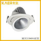 Nueva iluminación rotativa de la luz LED de 360 grados con estilo del reflector/luz ahuecada del punto del CREE LED Elephantly del techo 30W