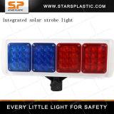Хозяйственный красный и голубой солнечный предупредительный световой сигнал строба