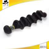 黒い7AブラジルのRemyの毛のよこ糸