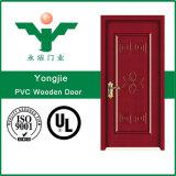 Porta arredondada de madeira interior econômica do PVC do MDF do estilo de Europa (WFP-022)