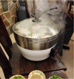 Vapor del vegetariano de los mariscos de la carne del ayudante de la cocina