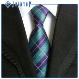 100% seda Classic Blanco & Negro hombres corbata