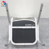 Gute Qualitätsrunde Rückseiten-weißes Leder-/Samt-Bankett-Stuhl Hly-Bc02