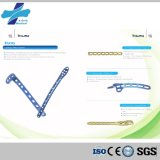 (T-Plate-5.0) Plaque de verrouillage titanique d'implant orthopédique chirurgical