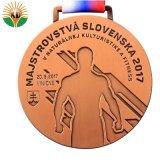 Medaglia dello smalto di Aolly dello zinco personalizzata vendita calda per la maratona