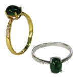 925 은 순은 주요 돌 로즈 금 /Rhodium는 남자 여자 반지 형식 보석을 도금했다