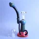 Tubulação de fumo de vidro do equipamento de vidro da SOLHA do Wag da peruca da tubulação de água